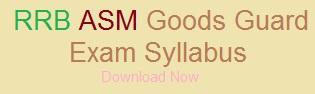 RRB Secunderabad ASM Goods Guard