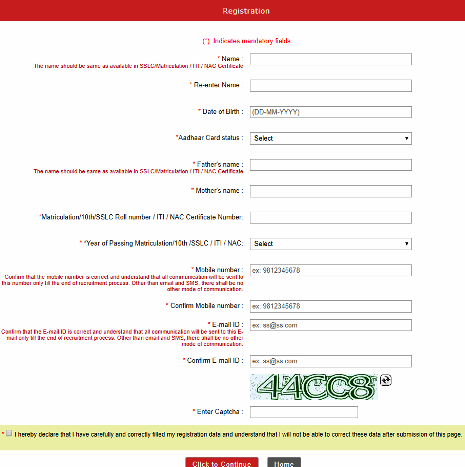 RRB Secunderabad Group D Online Application