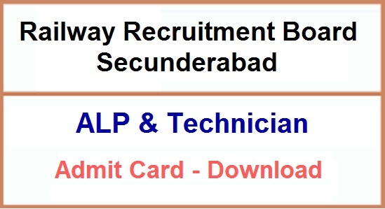 RRB Secunderabad ALP Technician Admit Card 2018-19