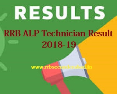 RRB Secunderabad ALP Technician Results 2018