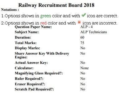 RRB Secunderabad ALP Technician Results 2018