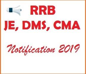 RRB JE Notification 2019